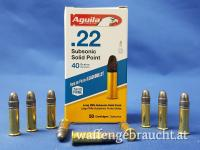 Aguila 22lr 40grs Solid Point Lead Bullet