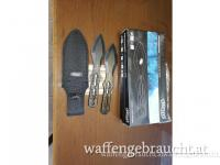 Walther Advanced Wurfmesser 2er Set mit Nylonscheide